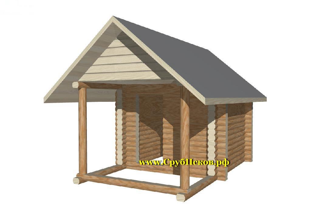 деревянные бани из бревна 3х3 с выносом 2